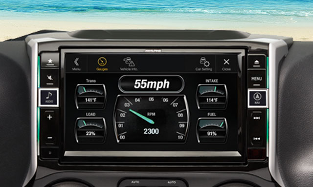 Alpine X209-WRA Info Display